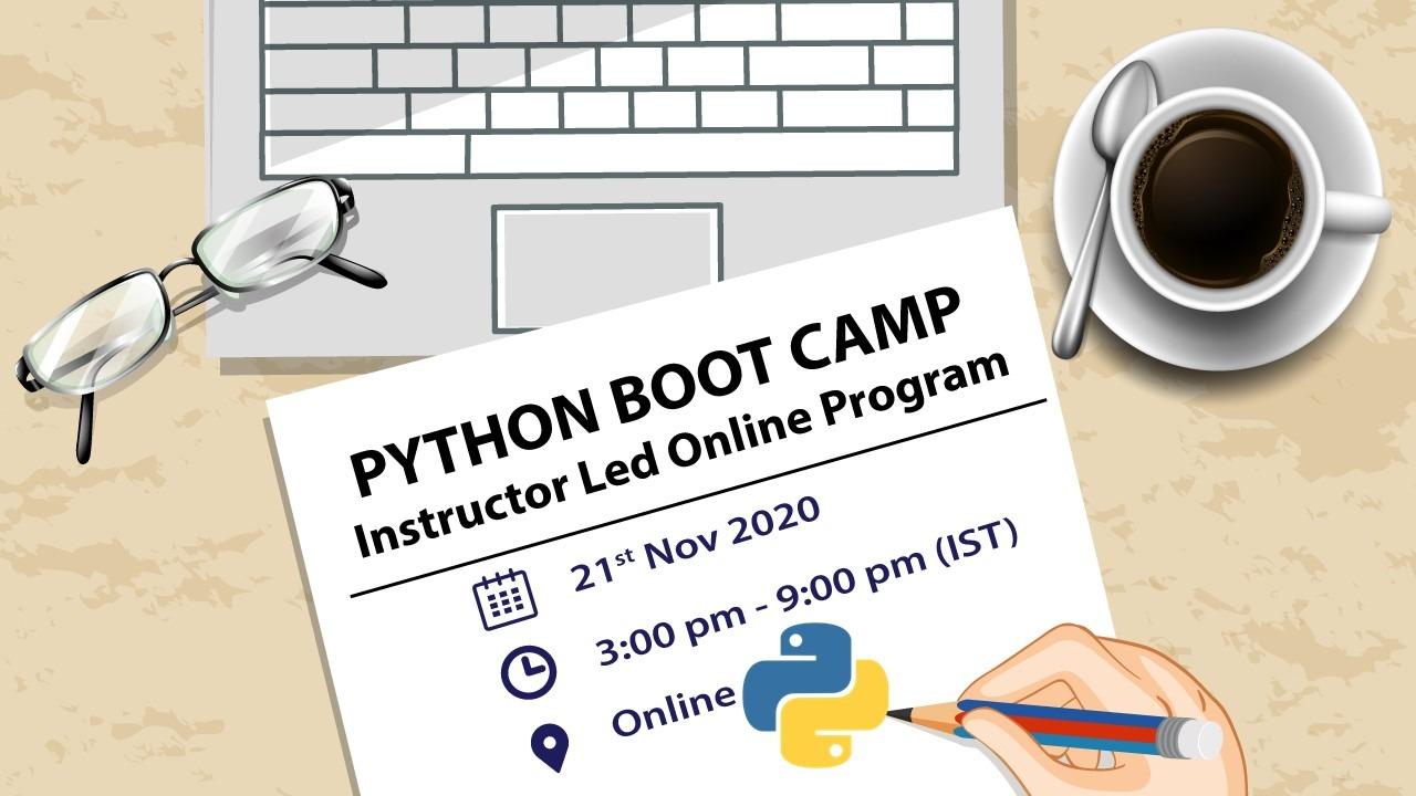 Python Boot Camp 21 Nov